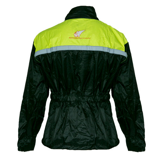 Torrent Motorcycle Rain Jacket Fluro