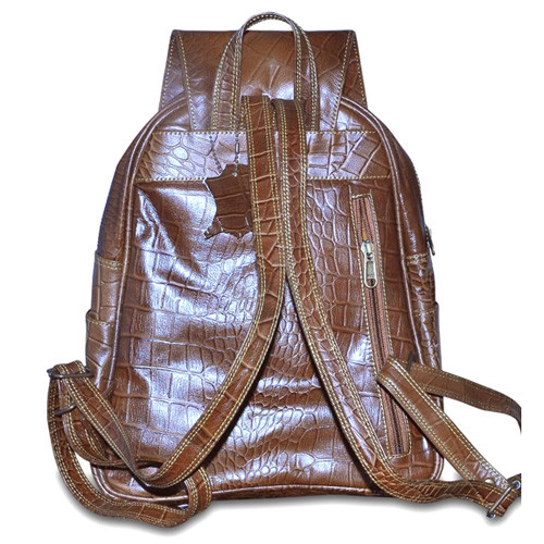 Womens  Leather Backpack adjustable straps