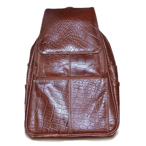Tan Womens  Leather Backpack