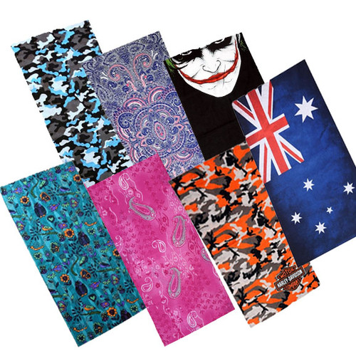 Patterned Multi Purpose Neck Warmer Face Mask Bandana