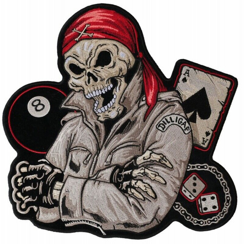 Dealer of Death Eight Ball Ace of Spades Back Patch