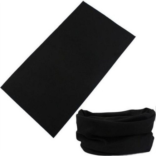 Black Multi Purpose Neck Warmer Face Mask Bandana