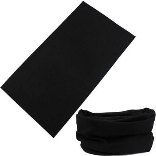 Black Multi Purpose Neck Warmer Face Mask Bandana