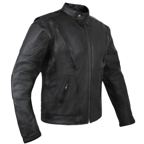 Leather Motorcycle Jacket with Vents and Armour in Australia