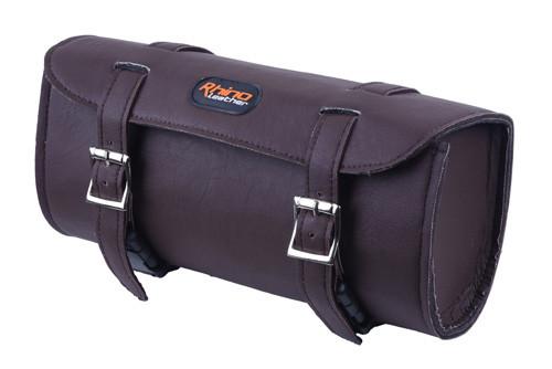 Brown Motorcycle Leather Toolbag