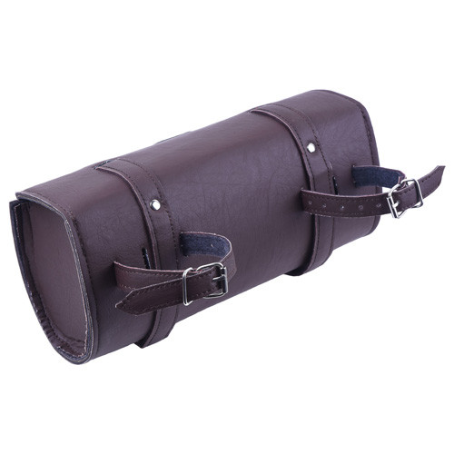Brown Square Motorcycle Leather Toolbag