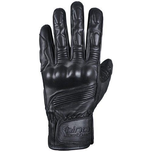 Leather motorcycle gloves with knuckle protection