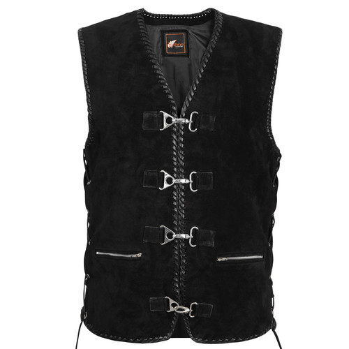 Leather Vest with Spanish Braiding