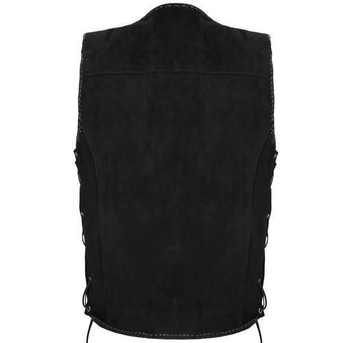 Suede Vest with Spanish Braiding