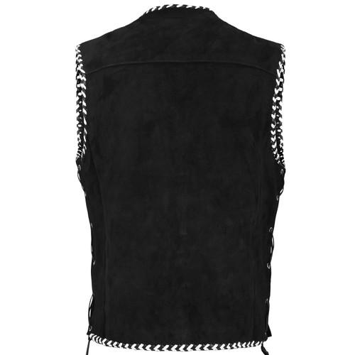 Motorcycle Leather Vest Braiding