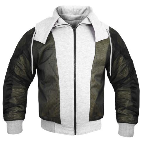 Kevlar lined motorcycle jacket