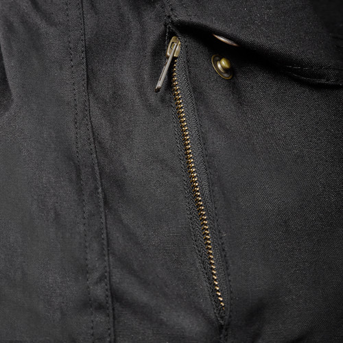 Waxed motorcycle jacet