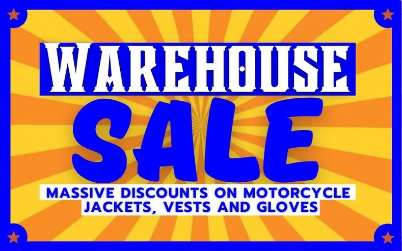 Motorcycle Clothing &  Gear 3-Day Warehouse Sale