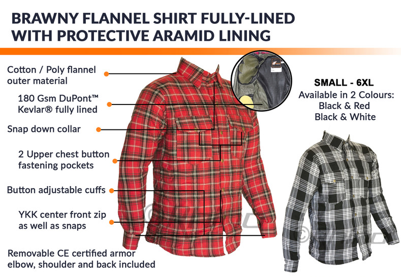 Brawny Kevlar Shirts get $25 off until 16-Oct-2019