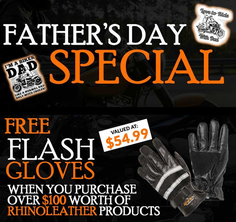 Father's Day Special - Free Flash Gloves when You Spend over $100