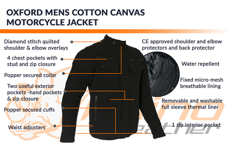 Oxford Canvas Motorcycle Jacket Gets $25 off until 31-Oct-2019