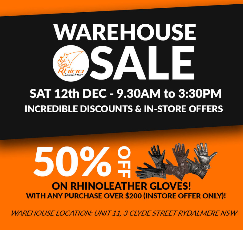 Motorcycle Clothing Warehouse Sale