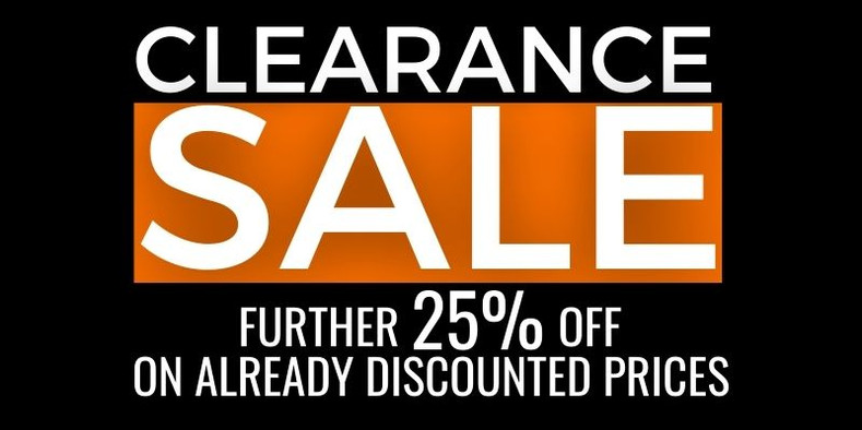 March Clearance Sale Has Begun!