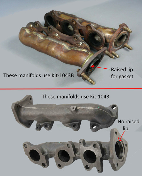 These are the 2 types of exhaust manifolds that came on the Toyota V6 3.4L 5VZFE engines that were sold in the United States.