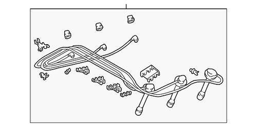 Plug Wires- Toyota 3.4L 5VZ-FE 4Runner, T100, Tacoma & Tundra OEM Spark Plug Wire Set (1994-2005) 19037-62050