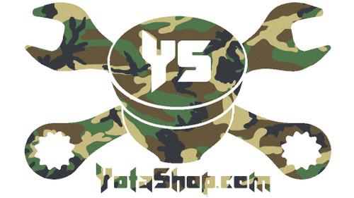 """Camo Sticker- YotaShop Camouflage Piston w/Wrenches 6""""x 4"""" Sticker YS-CS-6x4"""