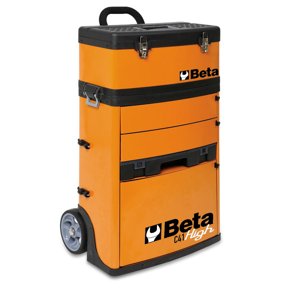 Beta Tools C41H-O Two-Module Tool Trolley - Orange