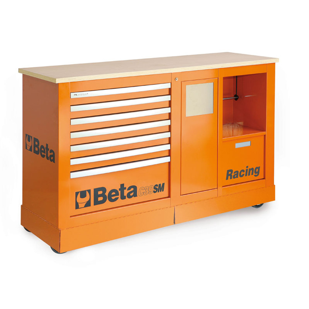 Beta Tools C39SM-O Special Mobile Roller Cabinet, Racing SM Type - Orange