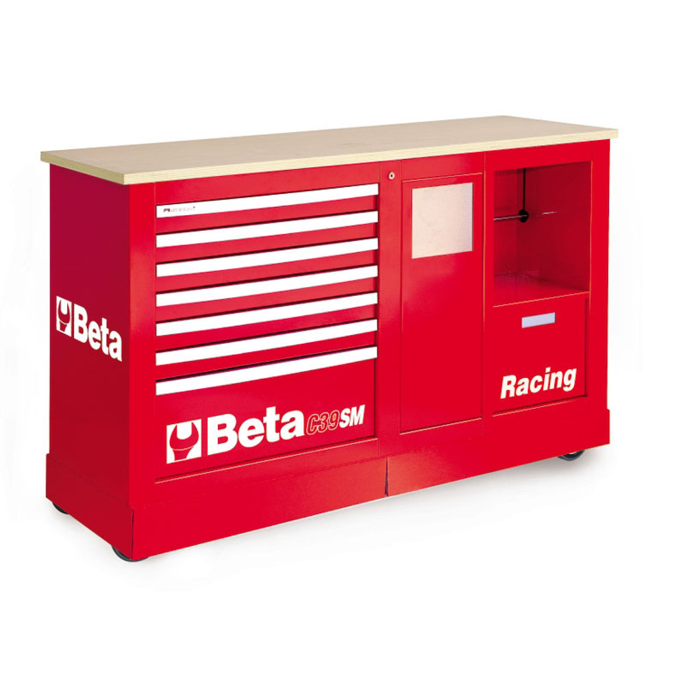 Beta Tools C39SM-R Special Mobile Roller Cabinet, Racing SM Type - Red