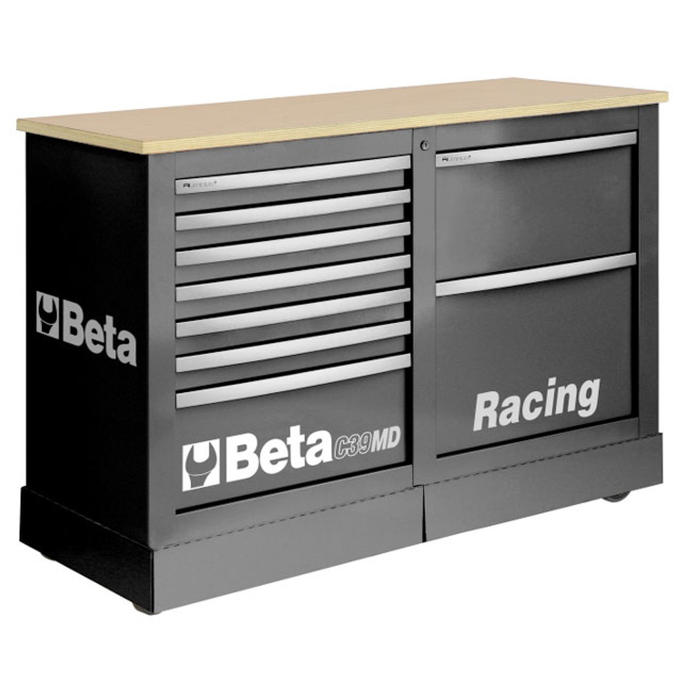 Beta Tools C39MD-G Special Mobile Roller Cabinet, Racing MD Type - Grey