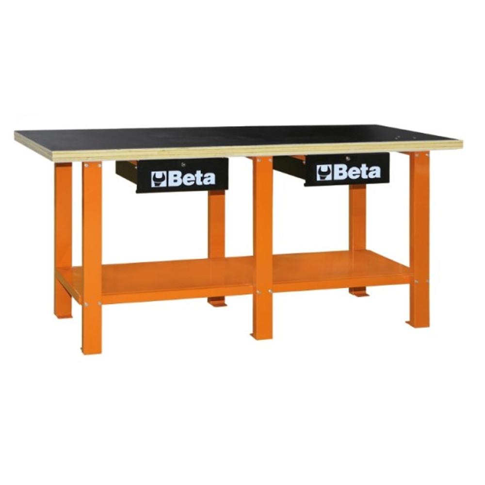 Beta Tools C56W-O Workbench with Wood Top - Orange