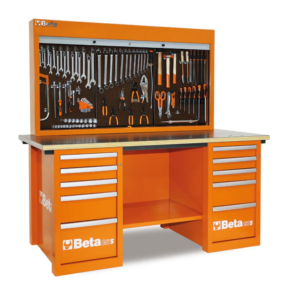 Beta Tools C57SB-O MasterCargo 10-Drawer Workbench - Orange