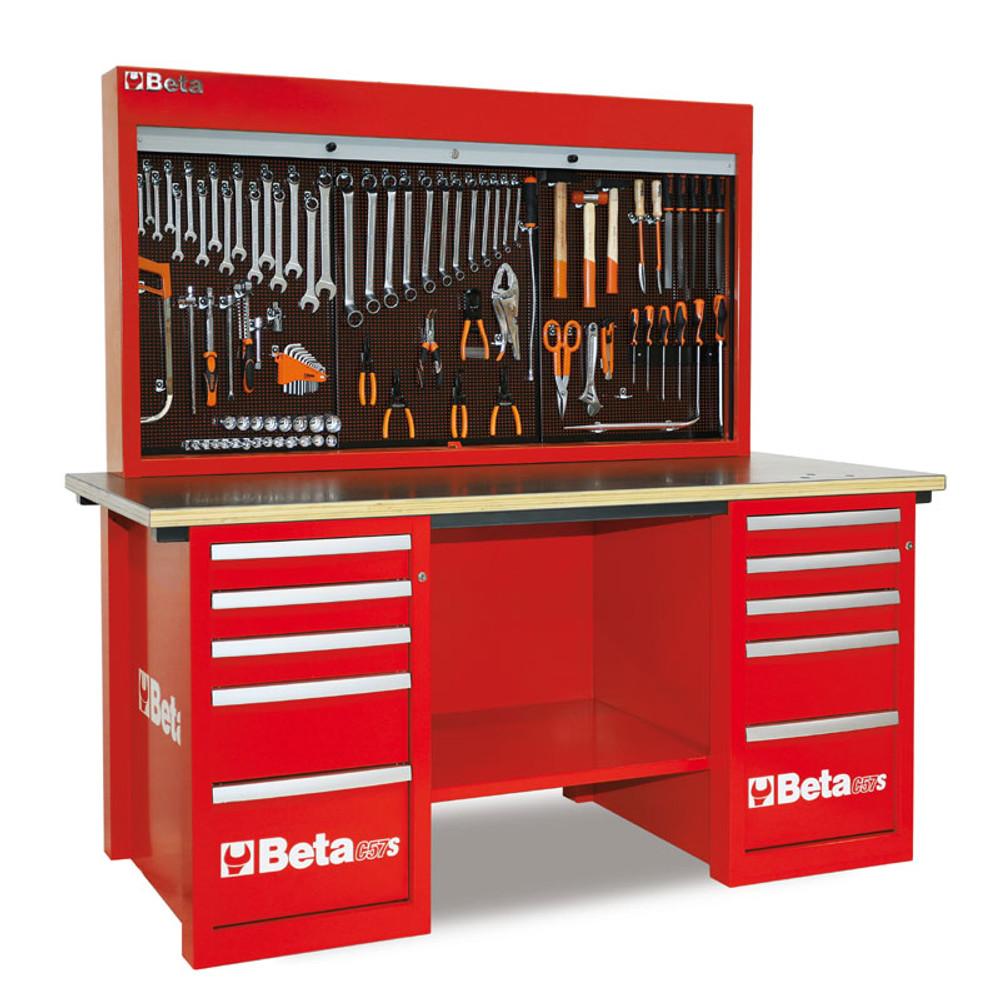 Beta Tools C57SB-R MasterCargo 10-Drawer Workbench - Red