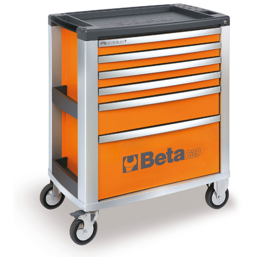Beta Tools C39-6/O Mobile Roller Cabinet with 6 Drawers - Orange