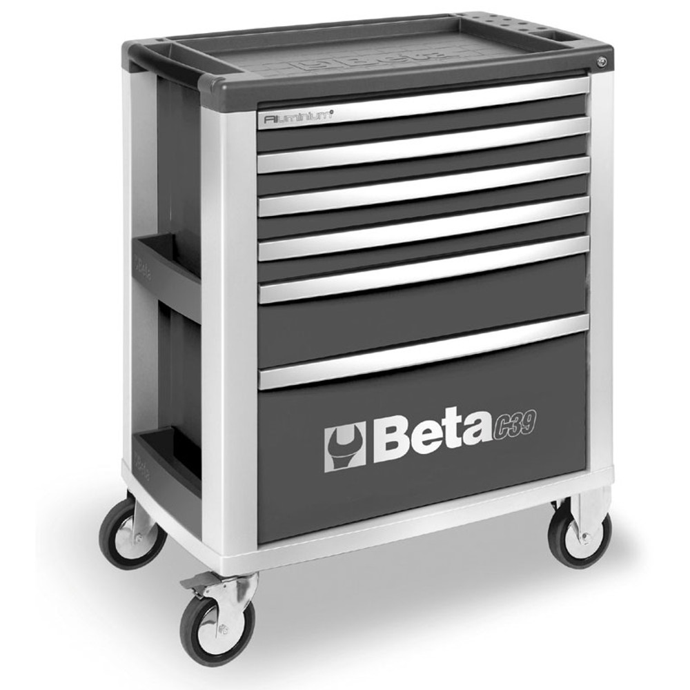 Beta Tools C39-6/G Mobile Roller Cabinet with 6 Drawers - Grey