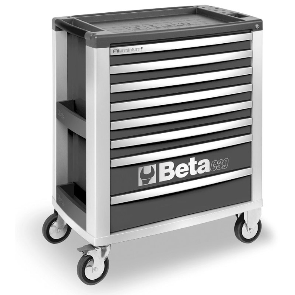 Beta Tools C39-8/G Mobile Roller Cabinet with 8 Drawers - Grey