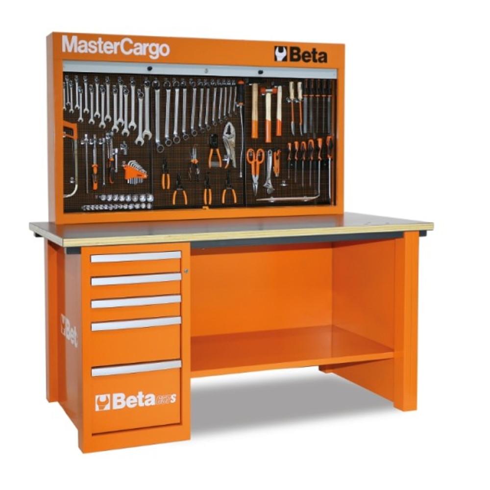 Beta Tools C57SA-O MasterCargo 5-Drawer Workbench - Orange