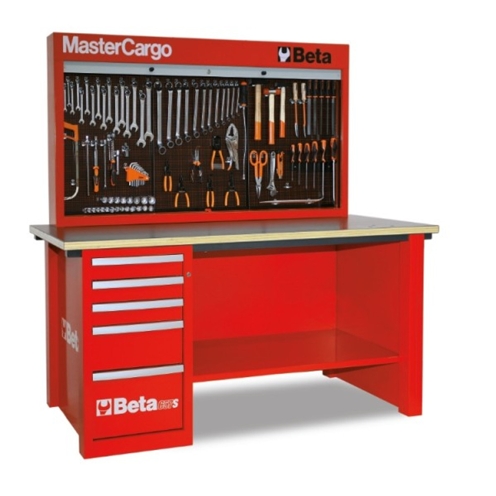 Beta Tools C57SA-R MasterCargo 5-Drawer Workbench - Red