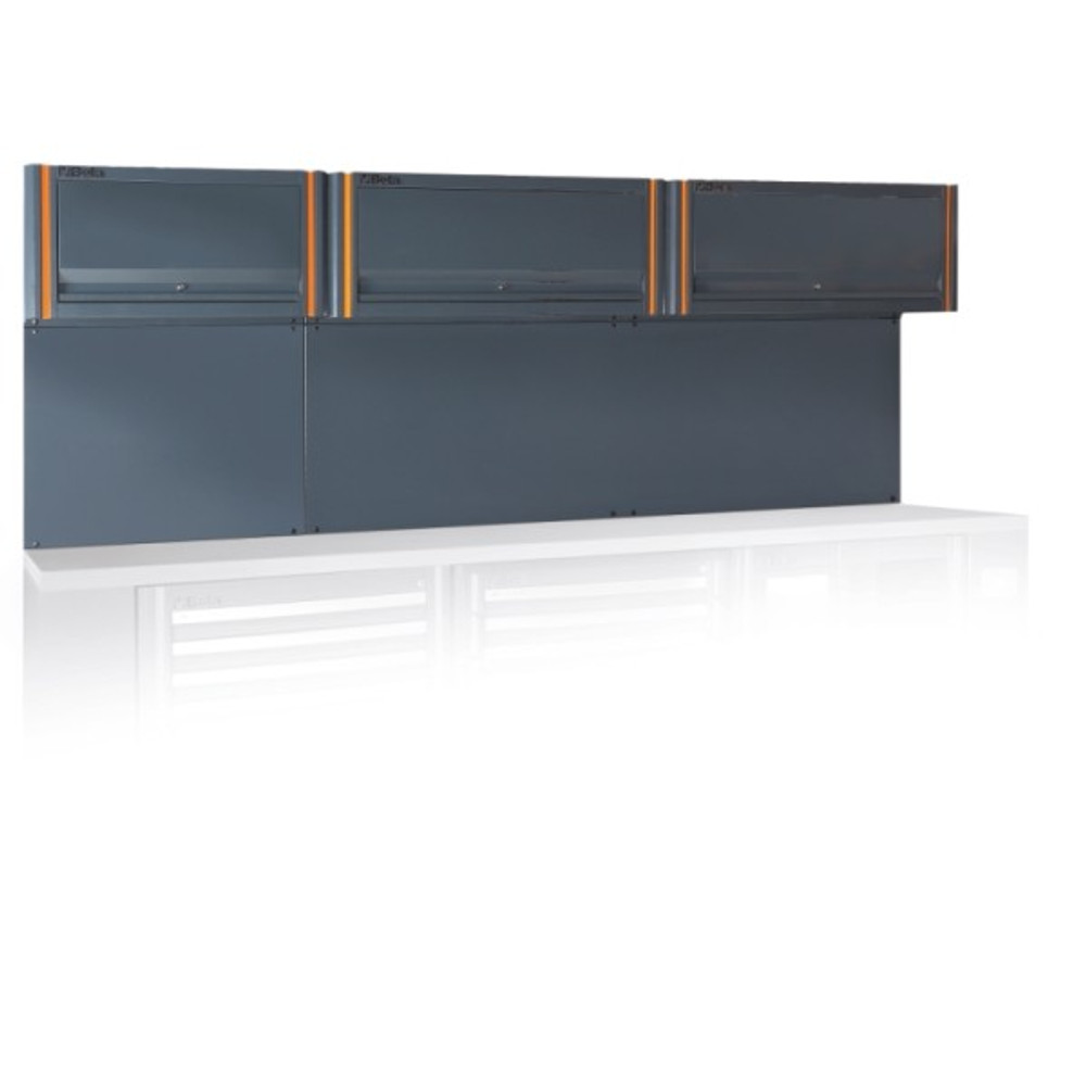 Beta Tools C55/3PM Tool Wall System with 3 Suspended Cabinets
