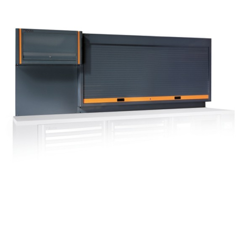 Beta Tools C55PP-G Tool Wall System with Shutter and Suspended Cabinet