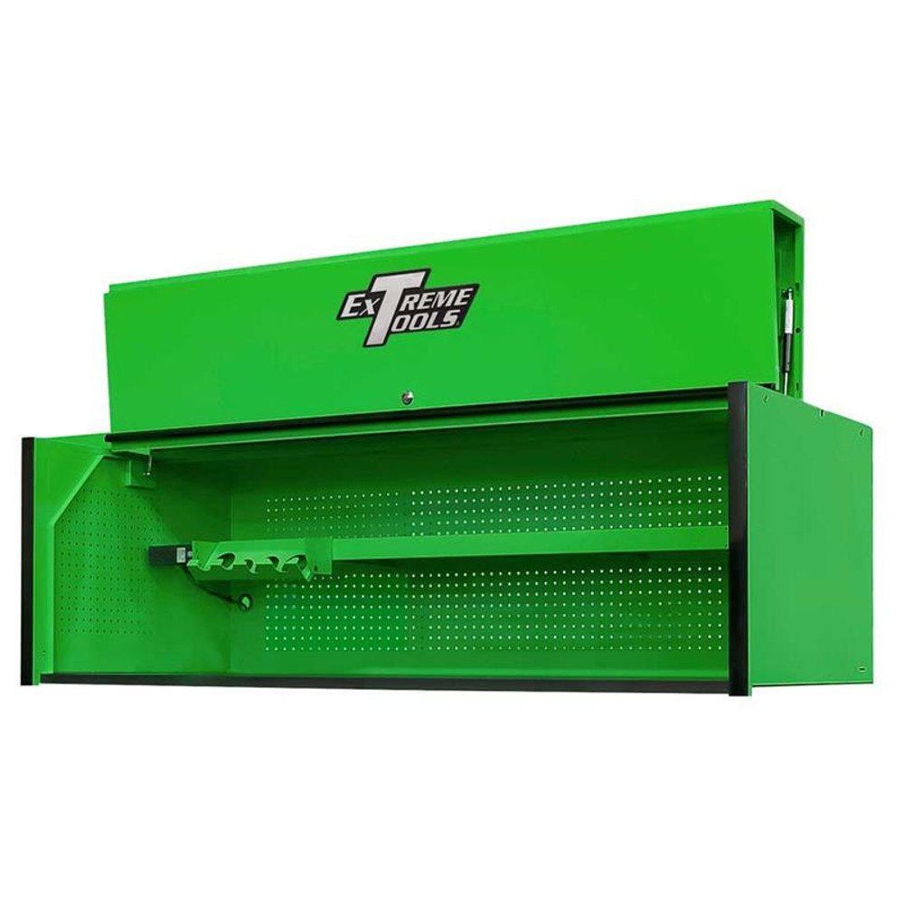 "Extreme Tools RX Series 72"" x 30"" Deep Hutch - Green w/Black Handle"