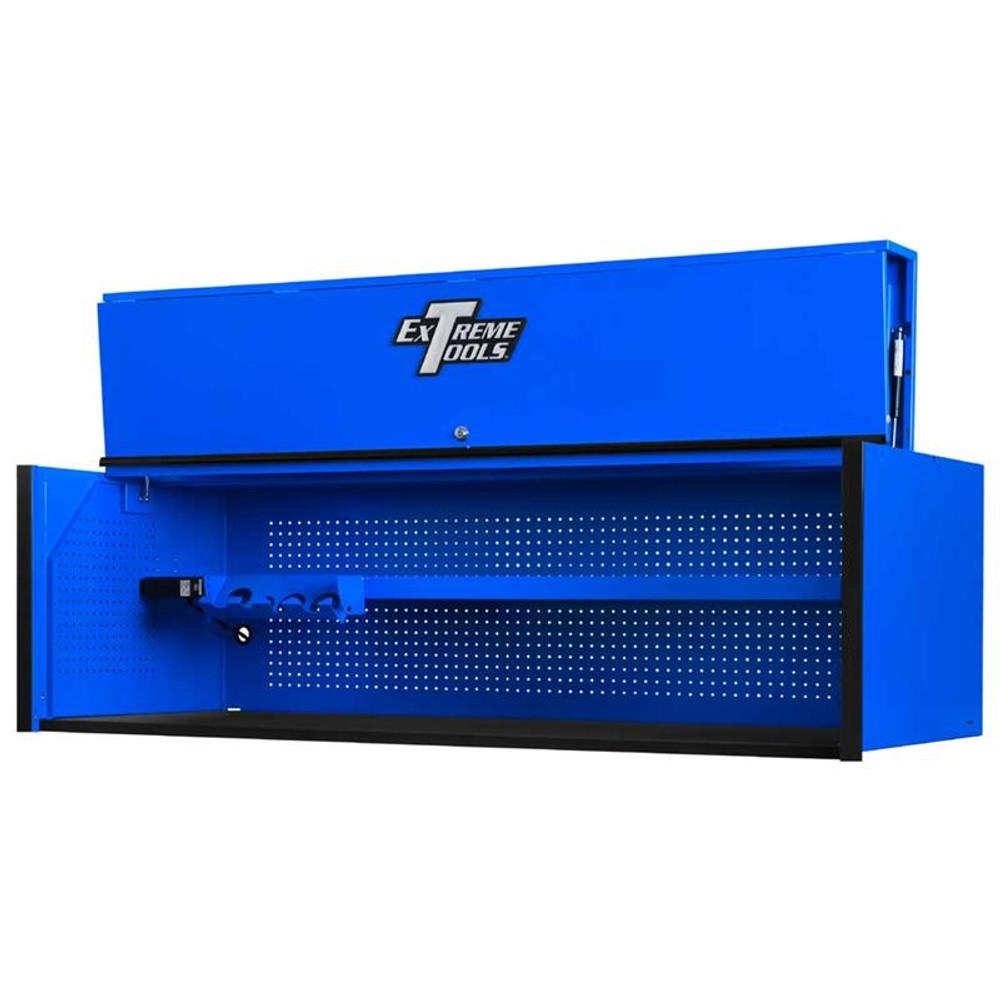 "Extreme Tools RX Series 72"" x 30"" Deep Hutch - Blue w/Black Handle"