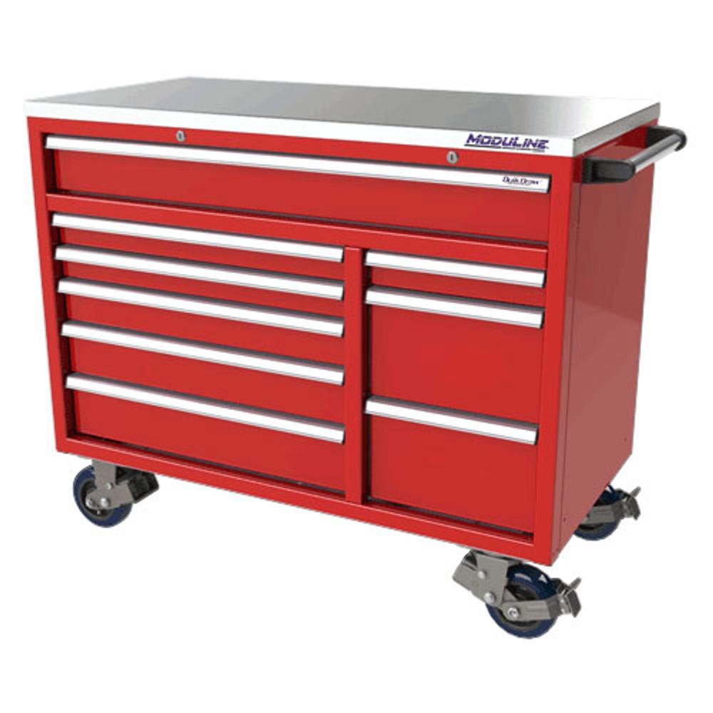 Moduline QuikDraw 48 9-Drawer Aluminum Roller Cabinet