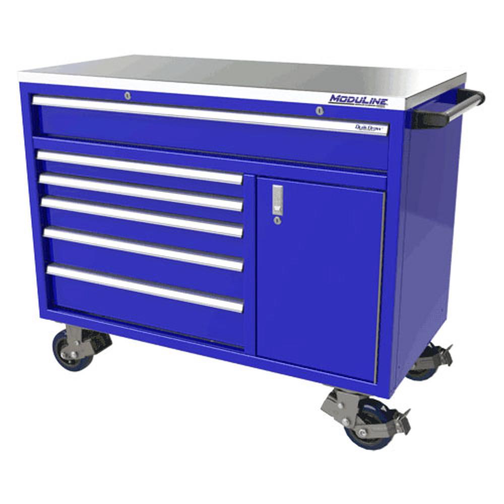 Moduline QuikDraw 48 6-Drawer, 1 Door Aluminum Roller Cabinet