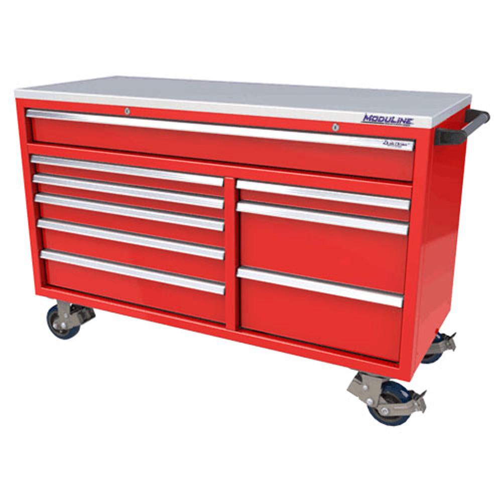 Moduline QuikDraw 60 9-Drawer Aluminum Roller Cabinet