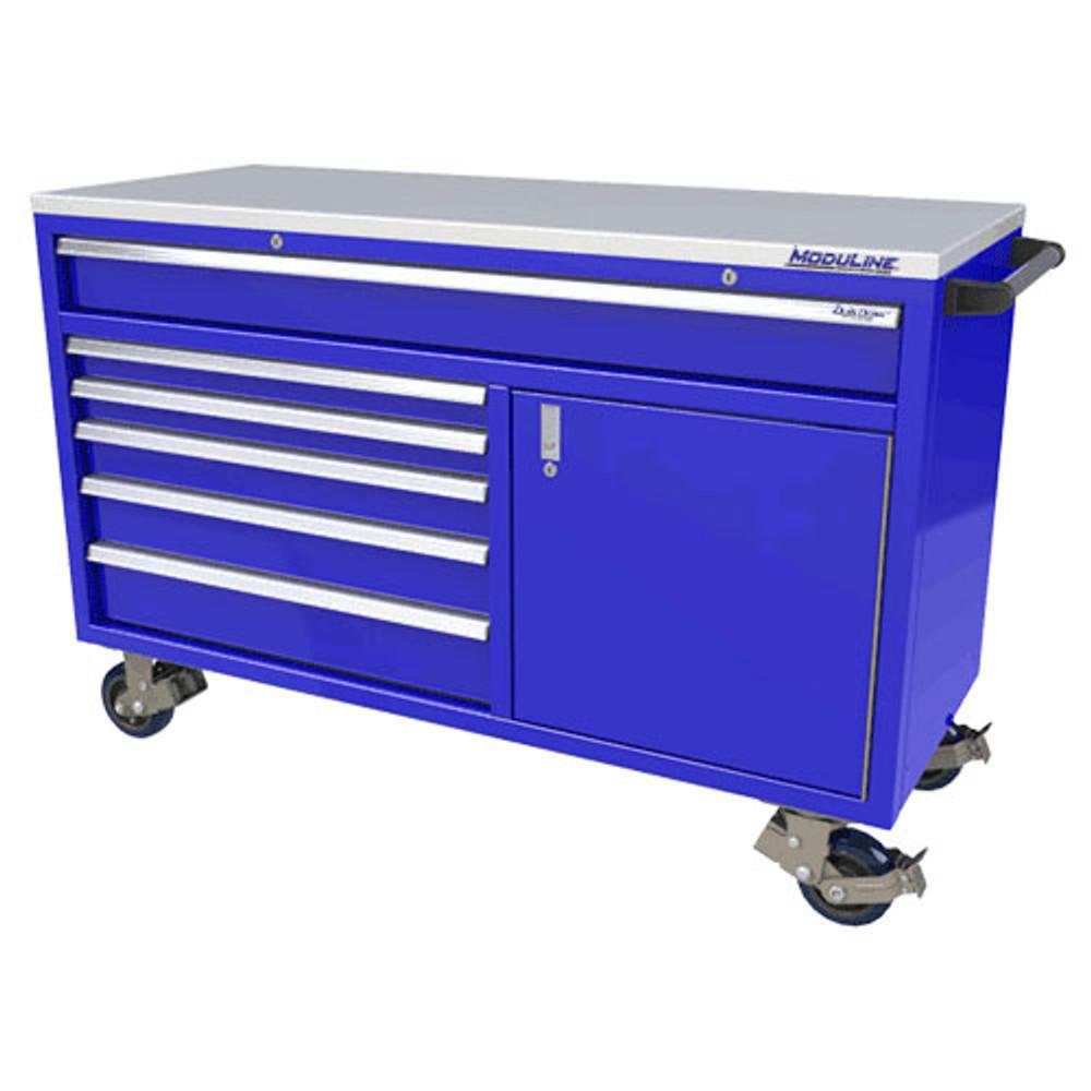 Moduline QuikDraw 60 6-Drawer, 1 Door Aluminum Roller Cabinet