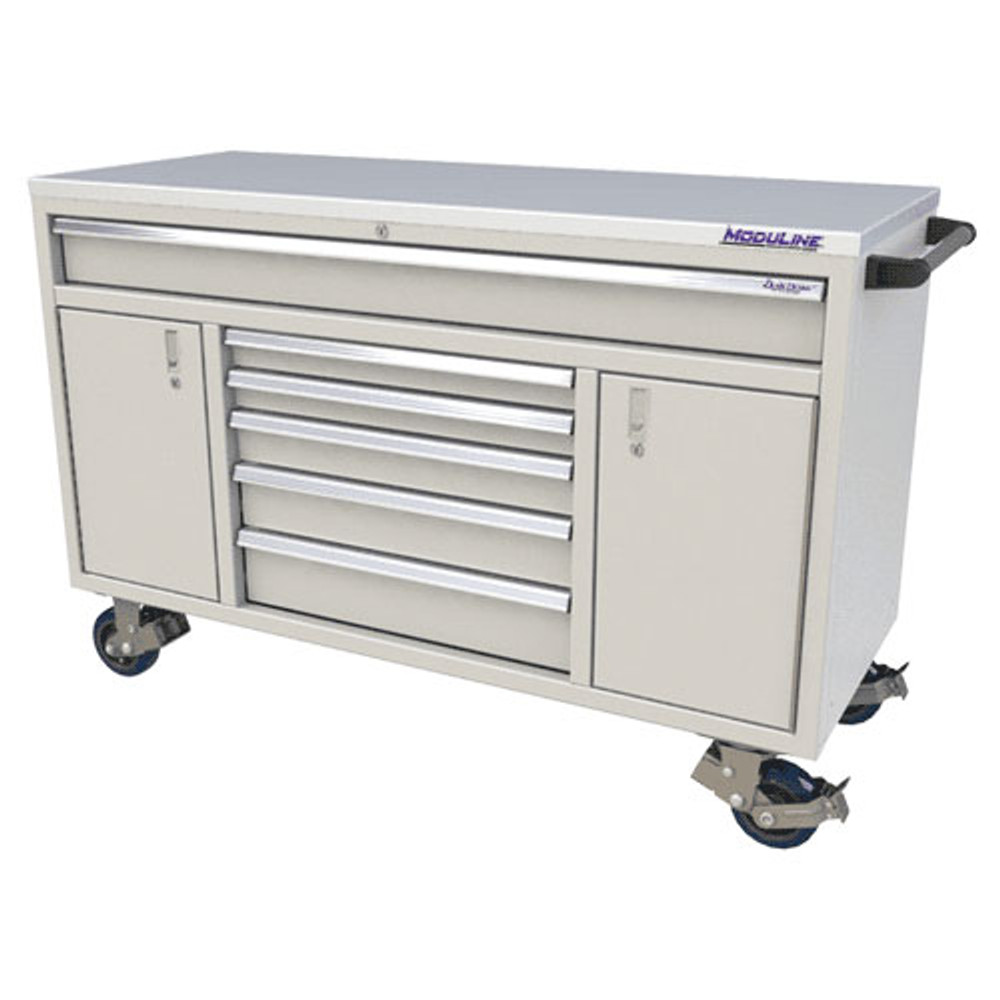 Moduline QuikDraw 60 6-Drawer, 2 Door Aluminum Roller Cabinet