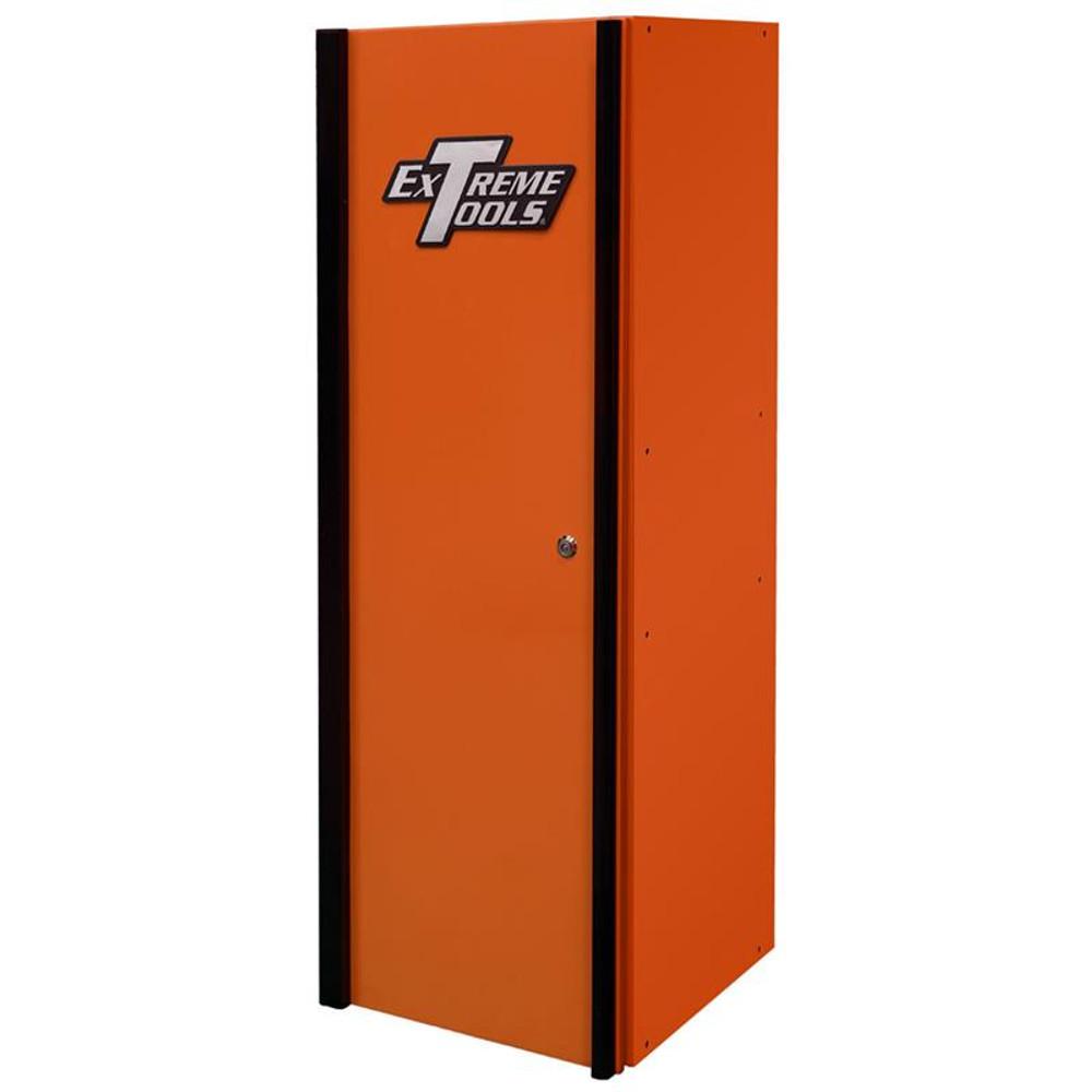 Extreme Tools DX Series 4-Shelf Side Locker - Orange w/Black Handle