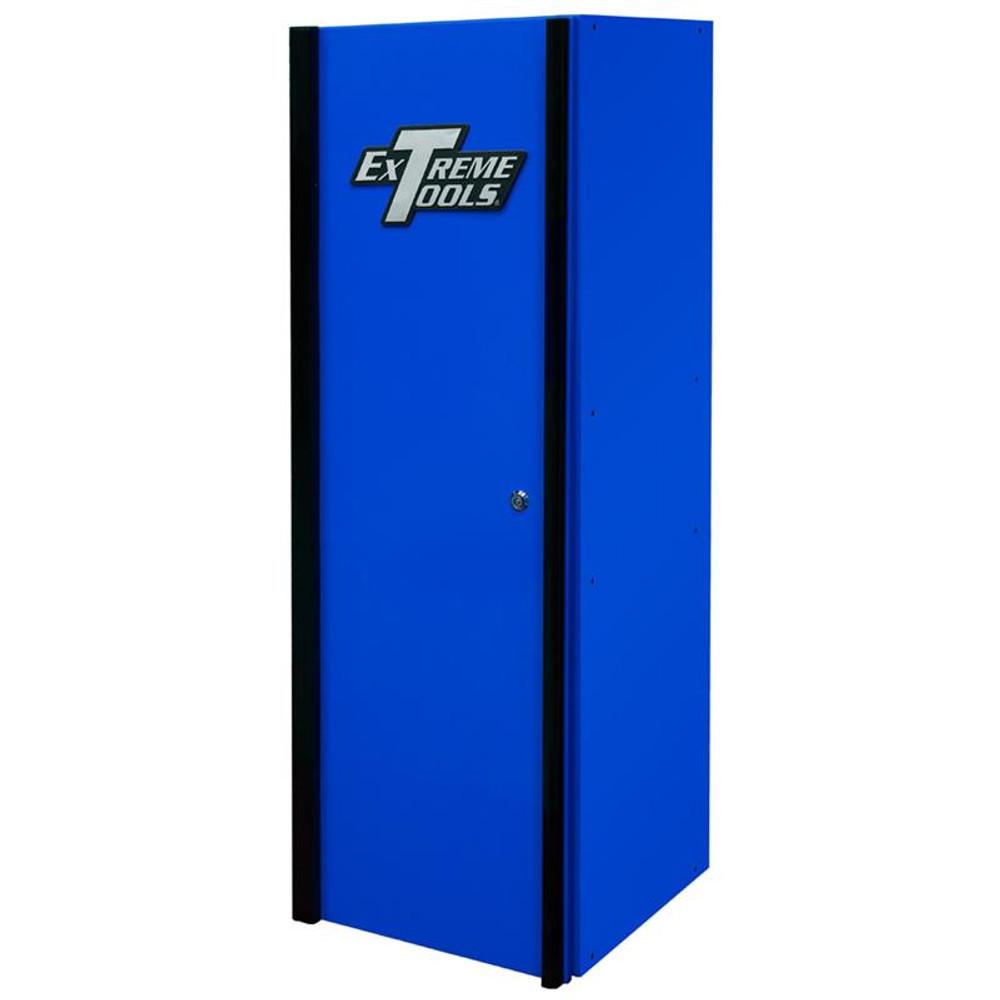 "Extreme Tools DX Series 19"" 4-Shelf Side Locker - Blue w/Black Handle"
