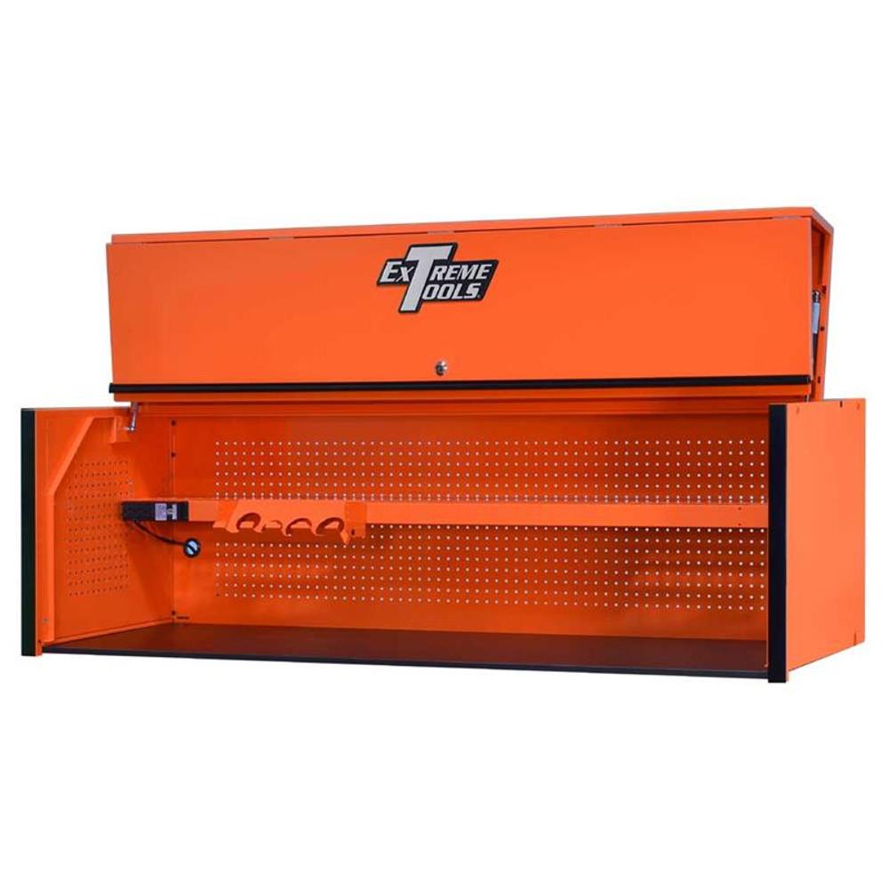 "Extreme Tools RX Series 72"" x 25"" Deep Triple Bank Hutch - Orange w/Black Handle"