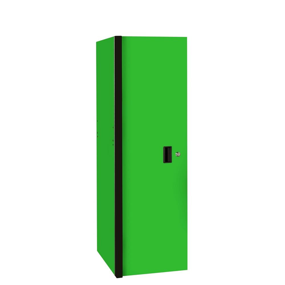 "Extreme Tools RX 19"" x 25"" Deep 3 Drawer/3 Shelf Side Locker - Green w/Black Trim"